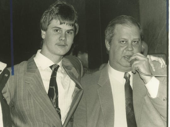 Richard Wershe Jr., left, stands with his attorney,