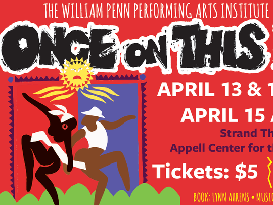 Once On This Island, playing this April by York City students.