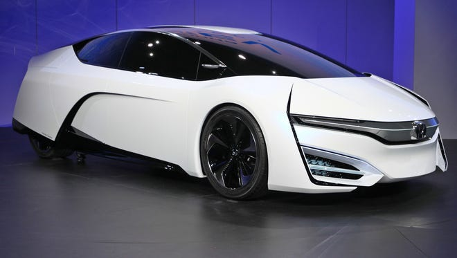 The Honda FCEV Concept fuel-cell car unveiled on Wednesday at the Los Angeles Auto Show.