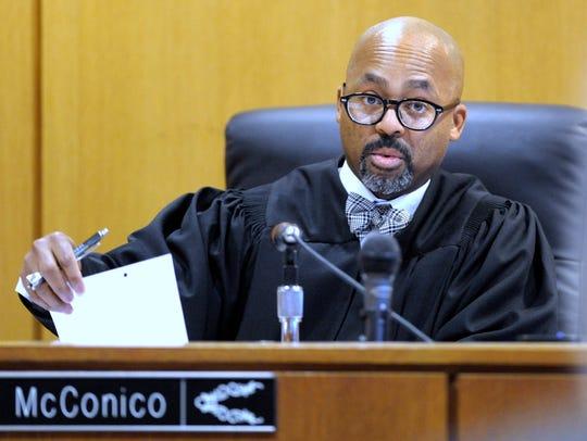36th District Court Judge William McConico hears the