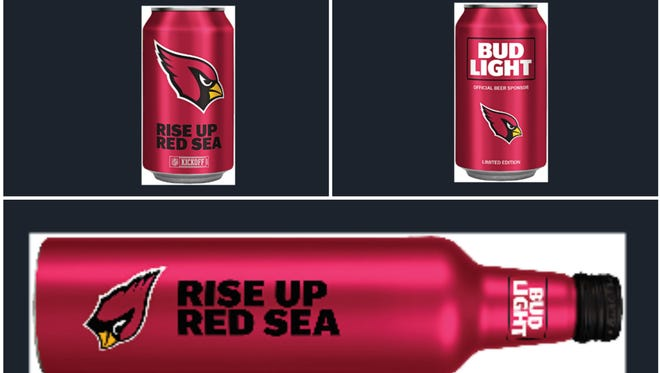 The Cardinals are among 28 NFL teams that have Bud Light custom cans for the 2017 season.