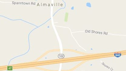 This map shows area where Rutherford County Board of Education is interested in buying 115 acres to build three schools on the east side of Almaville Road (state Route 102) near the north side of Interstate 840. The board hopes to open an elementary school and middle school in the Almaville area by 2021 and have enough land left over for a yet-planned high school on the same complex.