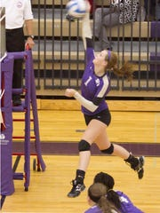 Fowlerville's Maddie Baldwin had 19 points, 16 kills and 10 aces in Monday's CAAC White victory over Williamston.
