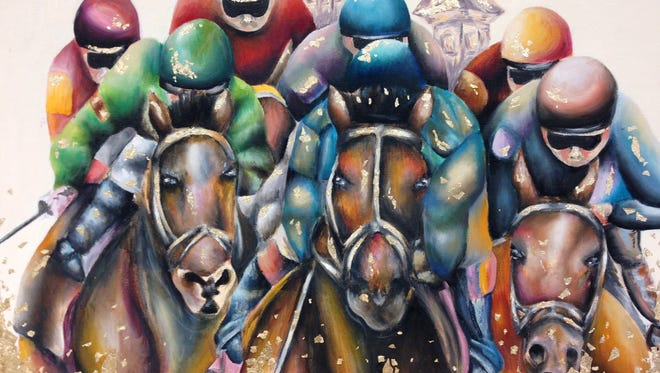 """Ivylee McKean is the grand prize winner in the Kentucky Derby Museum's Horsing Around With Art Contest: """"A Student's View of the Sport of Kings."""""""