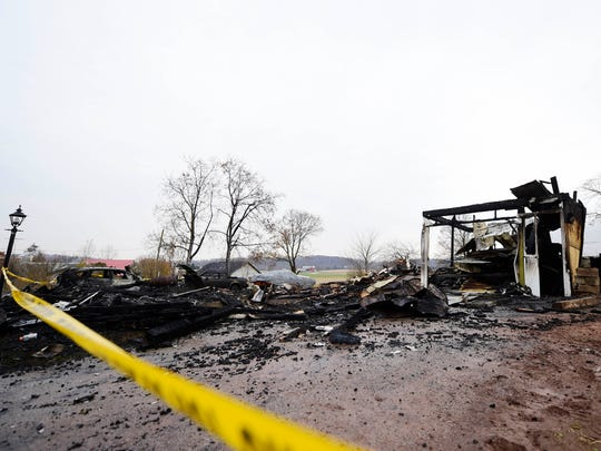 Homeowners were on their way to visit family when a fire destroyed their home on Bentz Mill Road in Washington Township the night before Thanksgiving.