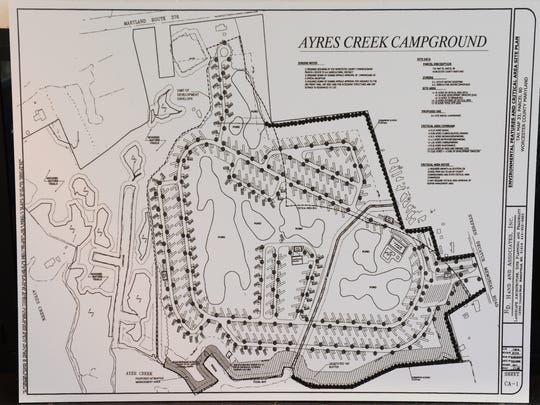 Proposed Ayres's creek campground sketch. Friday, Dec. 23, 2016.