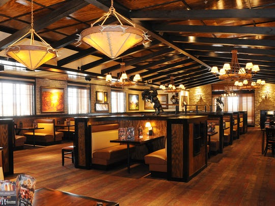 The interior of Lafayette's new LongHorn Steakhouse.