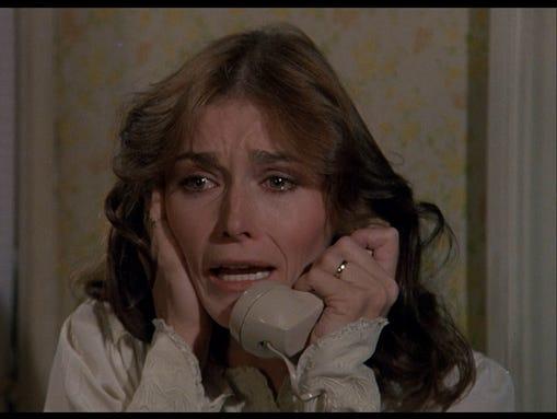 "Margot Kidder in ""Amityville Horror."""