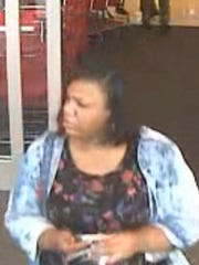This unknown woman used a stolen credit card to make