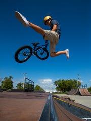 Dalton McCollum, 14, of Cape Coral, soars through the