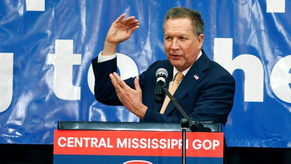 John Kasich speaks at a Central Mississippi Republican