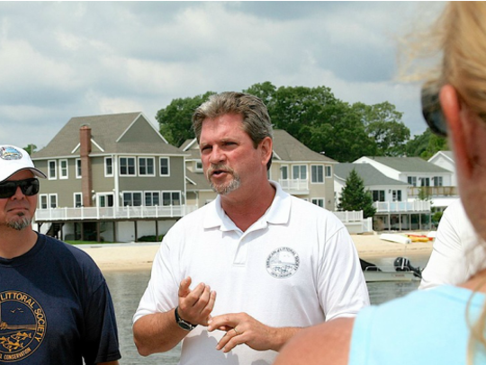 Tim Dillingham, right, executive director of the American Littoral Society, opposes offshore drilling.