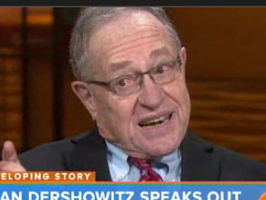 Alan Dershowitz on 'Today' today.