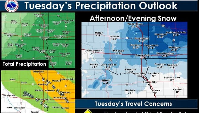 Outlook for Tuesday.