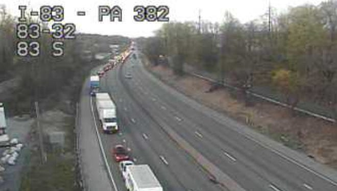 Northbound lanes of Interstate 83 are still closed Thursday morning after a fatal crash Wednesday night.