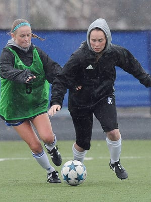 Emma Staskiewicz (right) is Brookfield Central's leading scorer.