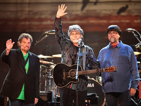 From left, Jeff Cook, Randy Owen and Teddy Gentry,