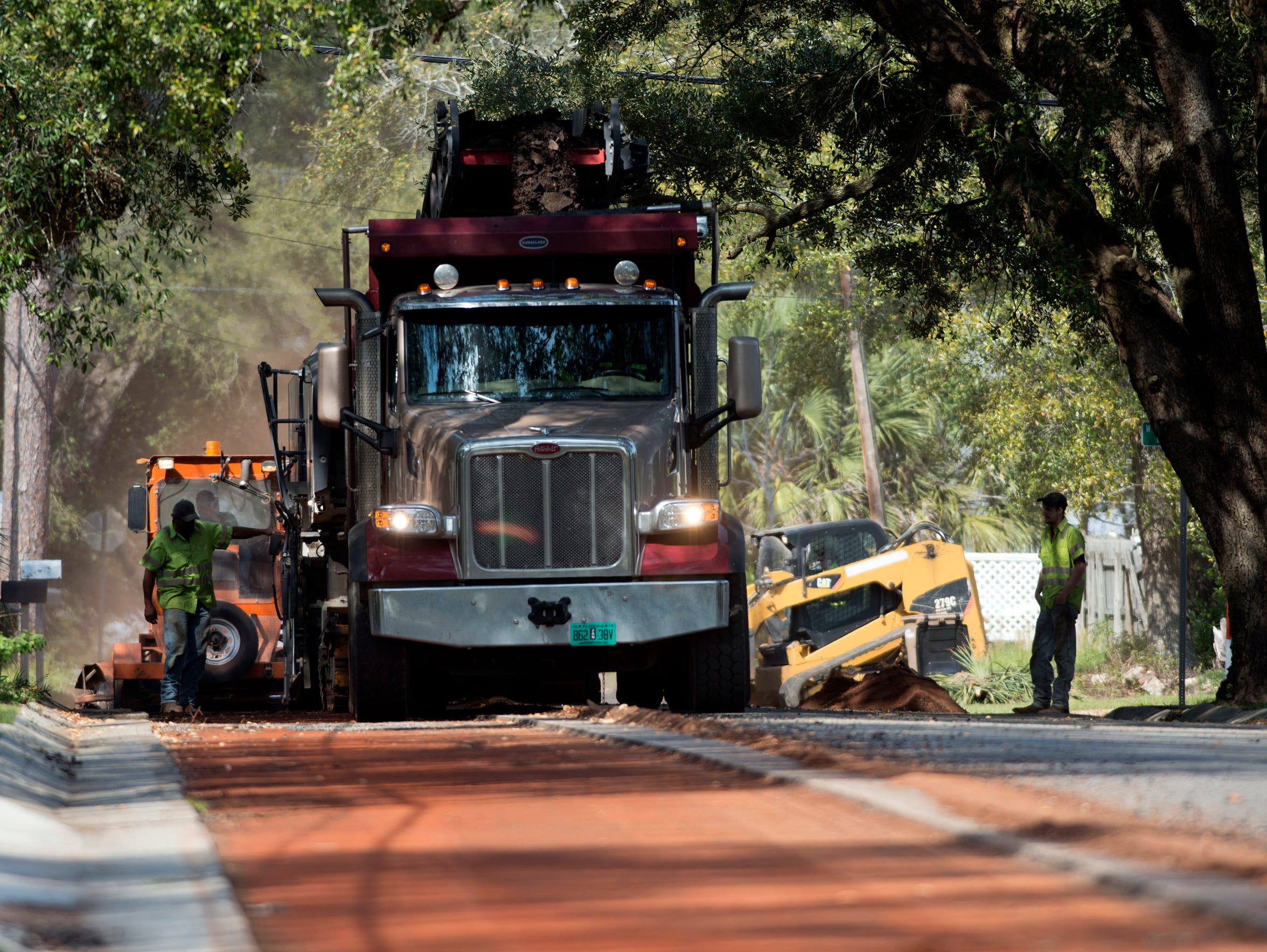 Milling work on North P Street, between West Wright
