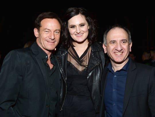 Actors Jason Isaacs (left) and Mary Chieffo and filmmaker