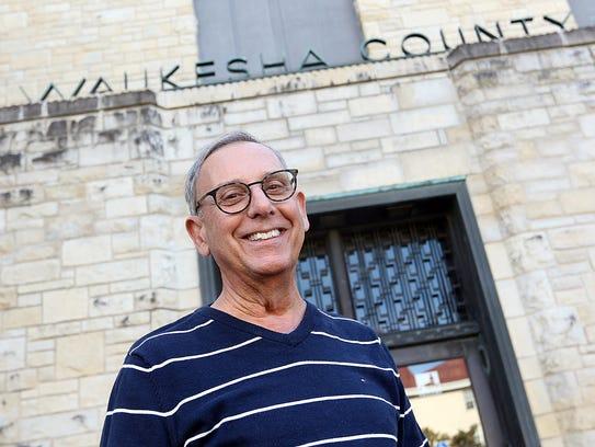 Waukesha County Museum Director Dennis Cerreta outside