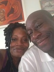 Lashanda and Reginald Castel reunite in Haiti. Reginald