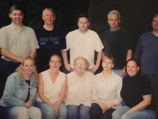 Anne Murphy Baer of Blauvelt, center, front row, with