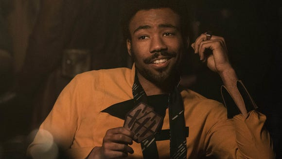 Donald Glover plays smooth gambler Lando Calrissian