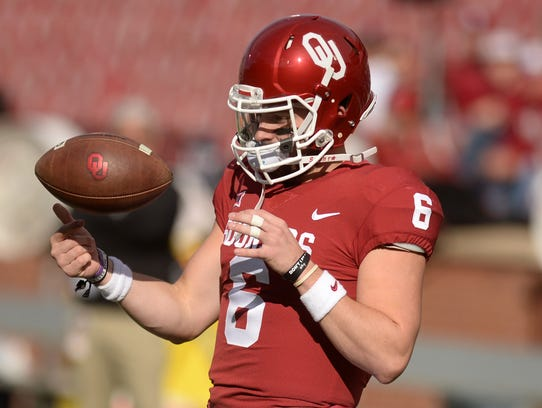 Oklahoma QB Baker Mayfield is expected to be a hot