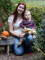 Diana (Heilner) Ziegler is seen here with her son. Diana was 24 weeks pregnant with her second child when she was killed in January 2017.