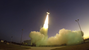 A 58-foot-tall Black Brant IX sounding rocket launches