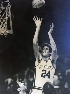 Kentucky's Bret Bearup sends the ball toward an easy two points.