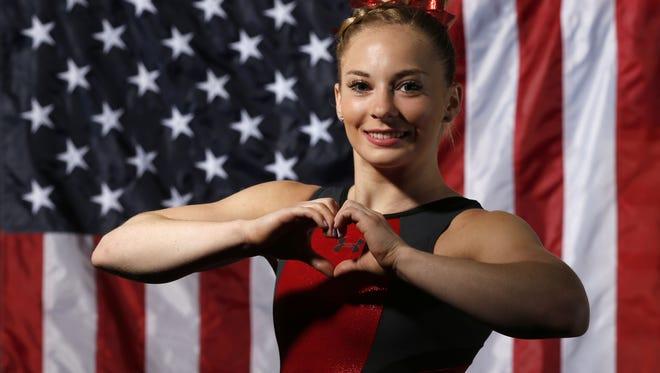 MyKayla Skinner of Gilbert, Ariz., looks to make the 2016 U.S. Olympic gymnastics team.
