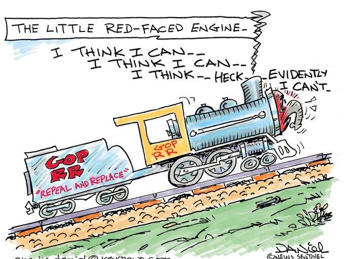 Charlie Daniel cartoon for July 31, 2017