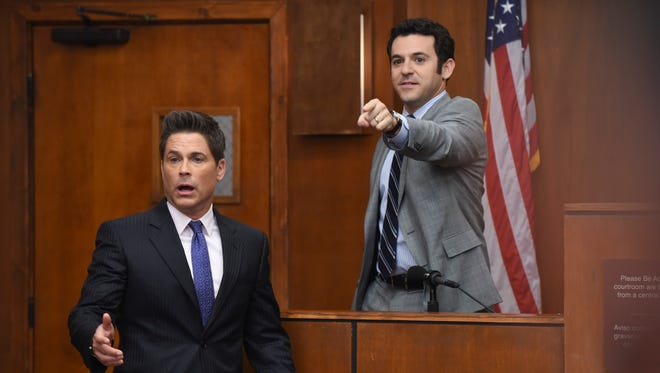 Rob Lowe, left, and Fred Savage star in the Fox comedy, 'The Grinder.'