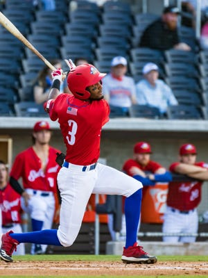 Amarillo Sod Squad's Jose Torres hit a home run and drove in five runs to help lead the Squad to a 13-4 win over the Amarillo Sod Dogs on Friday night at Hodgetown.