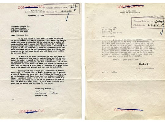 "Edward Teller wrote to War Research Director Harold Urey in 1944 to help J. Ernest Wilkins Jr. find new work after he was barred from entering Oak Ridge in a scientific role. J. Robert Oppenheimer, regarded today as ""the father of the atomic bomb,"" also forwarded the request with his own recommendation."