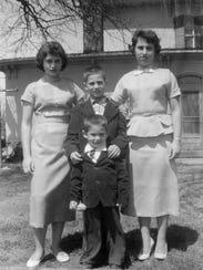 John (front), Patsy, Charles and Louella Crawford pose