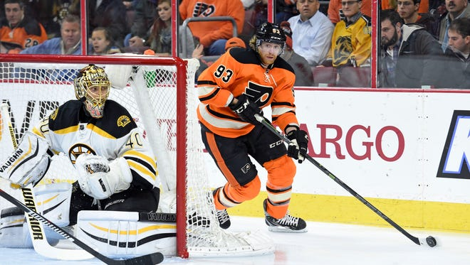 Jake Voracek and the Flyers beat the Bruins 3-2 when they visited on Jan. 13.