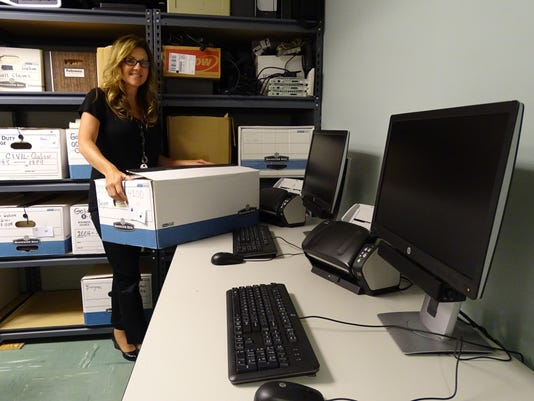 Preparing records to be scanned