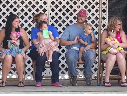 More than a dozen babies competed Wednesday in the