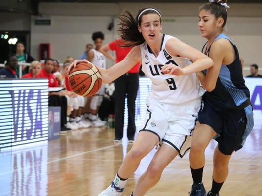Dowling Catholic's Caitlin Clark competed with the USA women's U16 national team at the 2017 FIBA Americas Championships in Argentina June 7-11.