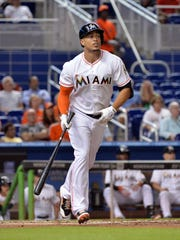 Giancarlo Stanton established career bests in several