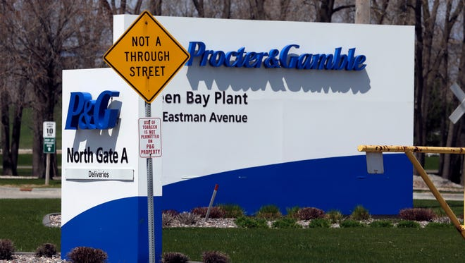 Entrance to the Procter and Gamble plant on Quincy Street in Green Bay April 23,  2016.