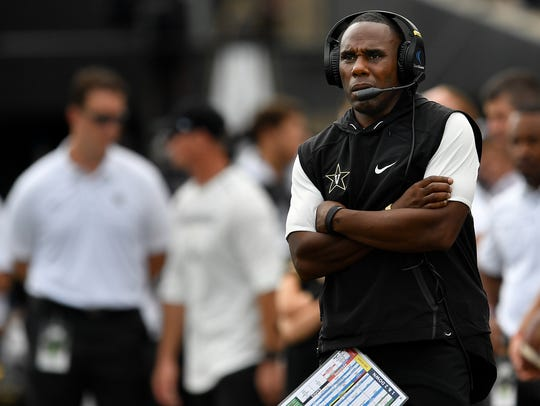Derek Mason has coached Vanderbilt to just one road SEC win in his four seasons. He will attempt to get win No. 2 at Ole Miss on Saturday.