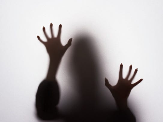 Scary female silhouette