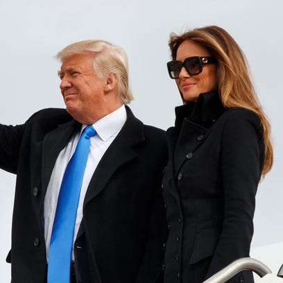 President-elect Donald Trump, accompanied by his wife