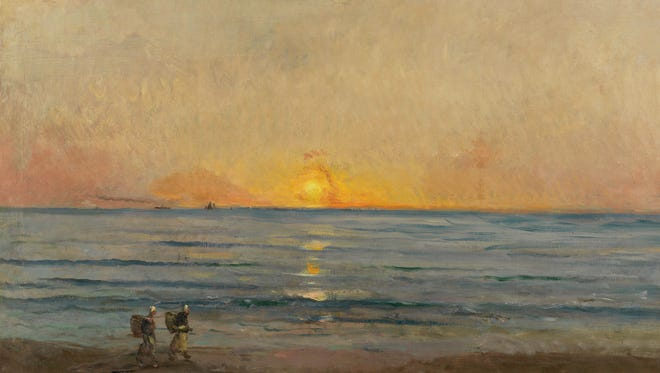 Charles François Daubigny, Sunset near Villerville, about 1876, oil on canvas. The Mesdag Collection, The Hague