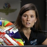 Sprint Cup Series driver Danica Patrick (10) talks about her new design painted by Troy Lee Designs Saturday, July 23, 2016, afternoon at the Indianapolis Motor Speedway.