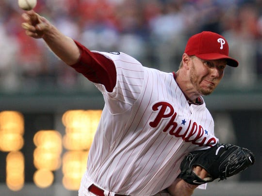 Phillies starter Roy Halladay throws against Arizona in the third inning Wednesday, July 28, 2010, at Citizens Bank Park.