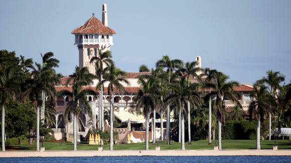 The Mar-a-Lago resort owned by President Trump in Palm Beach, Fla.